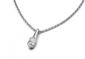 Phoenix Cut™ single stone pendant with chain