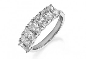 Seven stone Phoenix Cut™ eternity ring