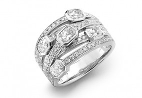 Phoenix Cut™ diamonds & pave dress ring, special edition