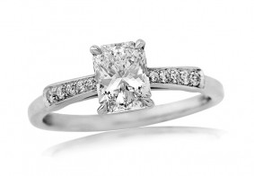 Phoenix Cut™ diamond single stone with bow inspired shoulders