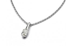 Phoenix Cut™ single stone pendant with chain