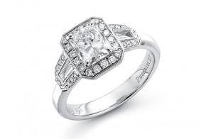 Phoenix Cut™ art deco style cluster ring